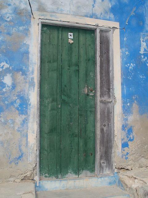 Groene, Deuren, Ingangen, Gebouwen, Blauw, Muren, Oude