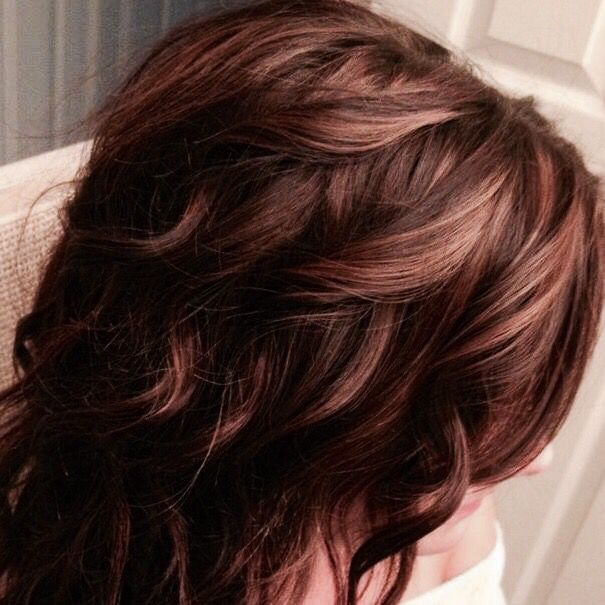 Fall Color: Deep Brown with Rose Gold Highlights