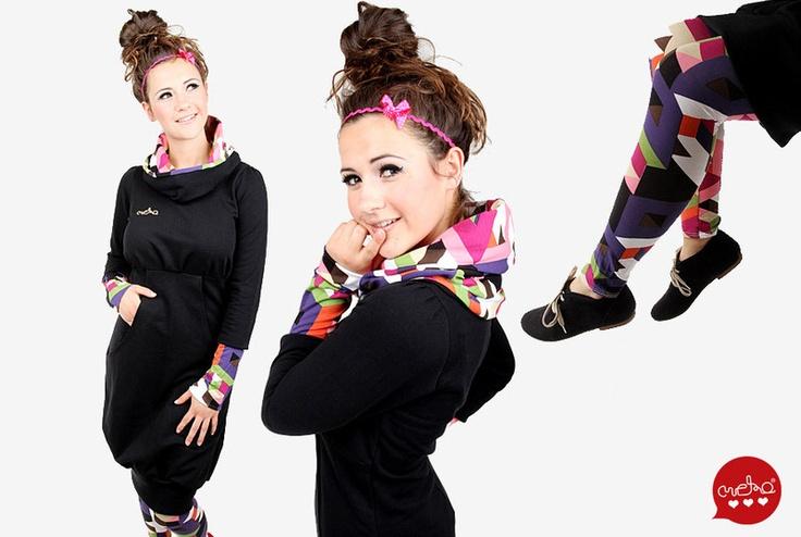 MEKO Set 4: Kleid/ Leggings/ Haarband