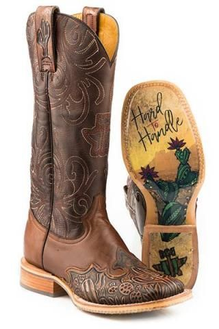 6e605bbf48c2 Women s Boots Tin Haul Brown Cactooled Hard To Handle Sole