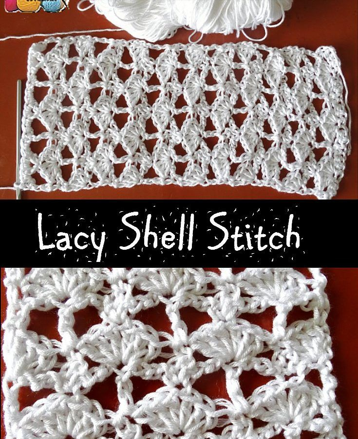 Lacy Shell Stitch - Free Pattern and Video tutorials by Meladora's Creations