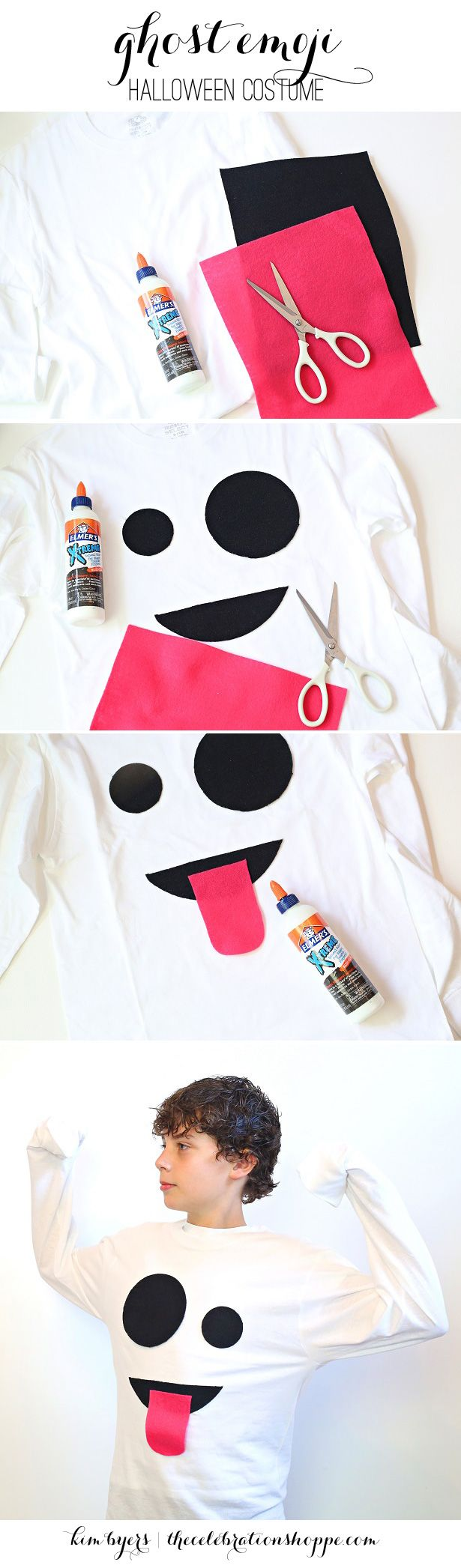 How To Make A Ghost Emoji Halloween Costume | Kim Byers