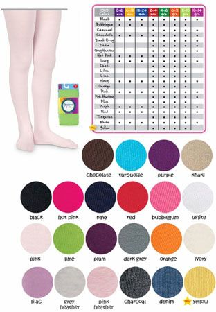 Baby and Children's Pima Cotton Tights for Girls