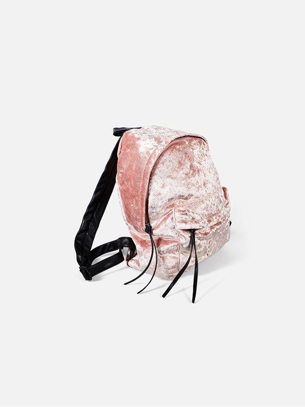 Billy Velvet backpack | | Vaalea pinkki | BikBok | Suomi