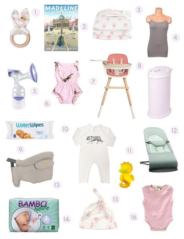 Baby shower registry list ideas