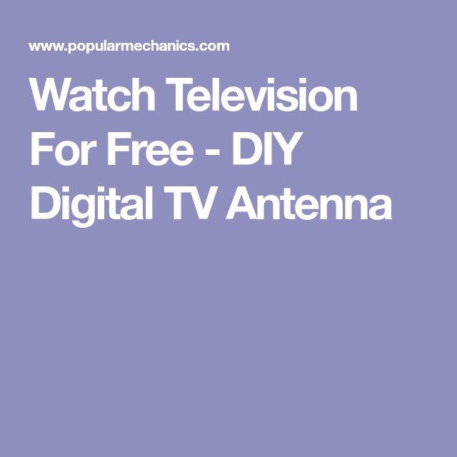 Watch Television For Free - DIY Digital TV Antenna
