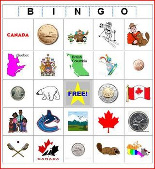 Canada Bingo-amazing site to create your own cards