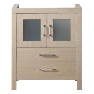Virtu USA Dior 28 Inch Light Oak Single Sink Cabinet Only Bathroom Vanity