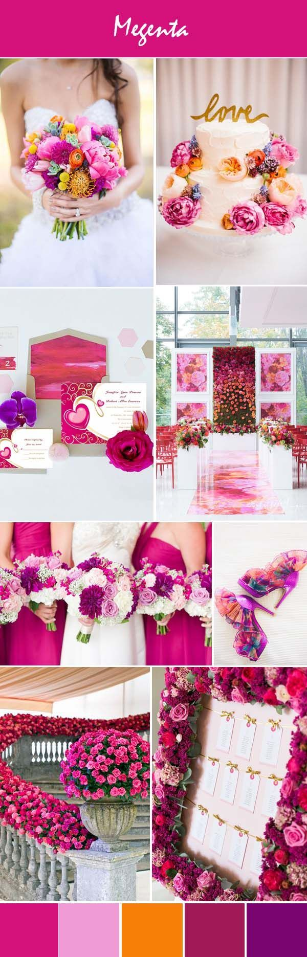 bright pink colorful wedding ideas and lovely pink wedding invitations