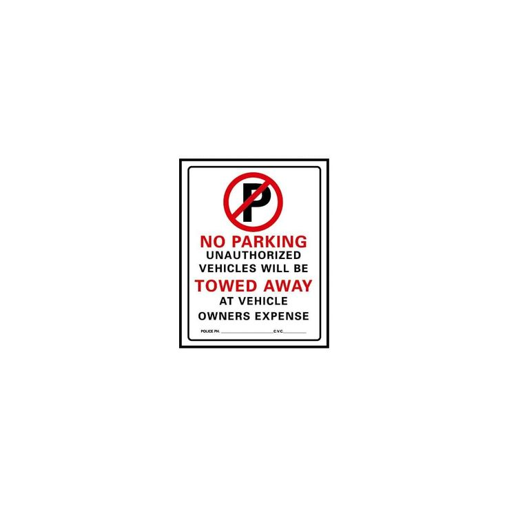 Hy-Ko 15X19 No Parking Sign
