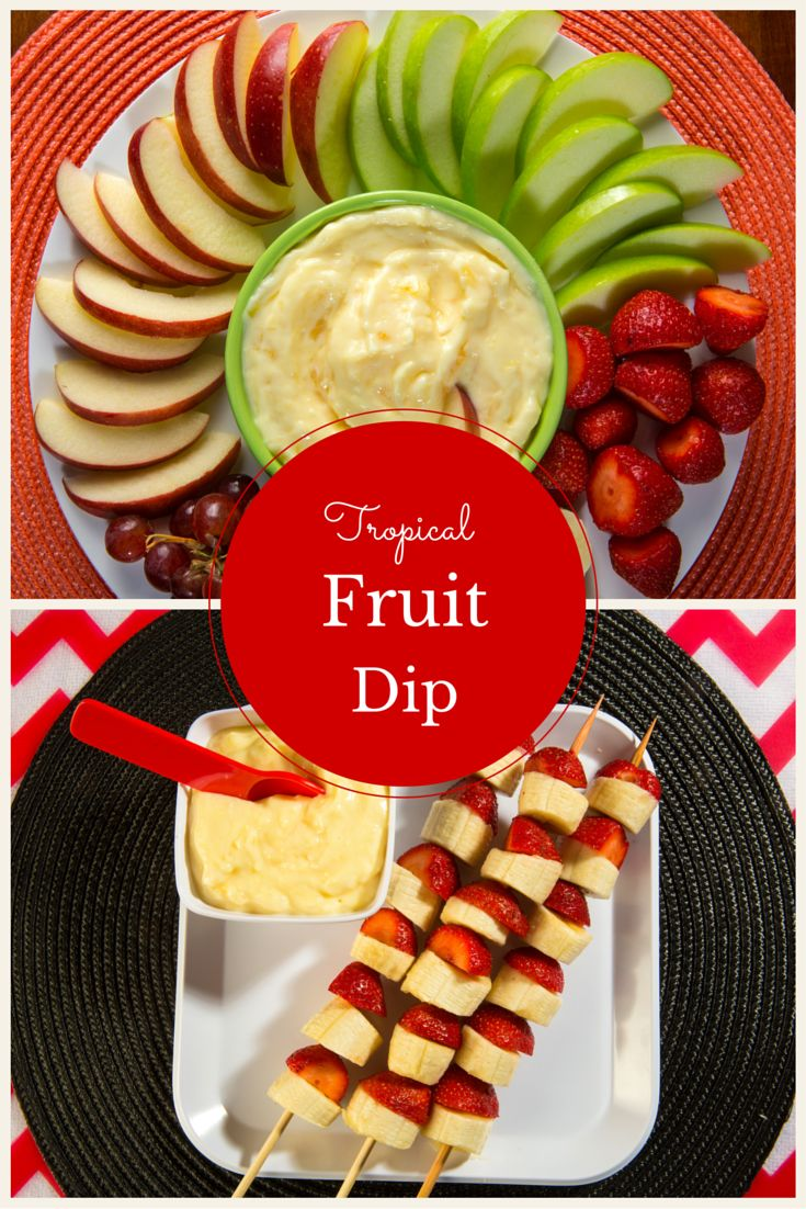 Refreshing tropical fruit dip