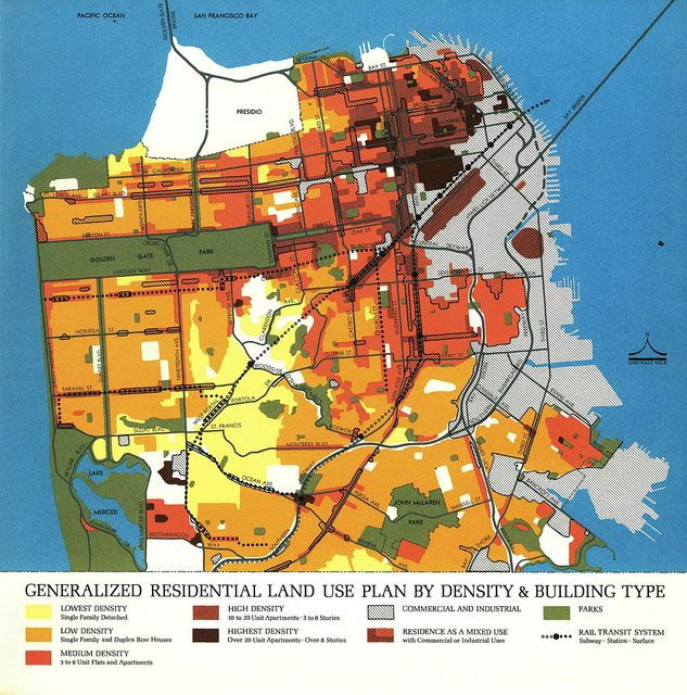 Generalized Residential Land Use Plan by Density and Building Type
