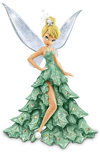 Tinkerbell Christmas Tree Dress From the Bradford Exchange
