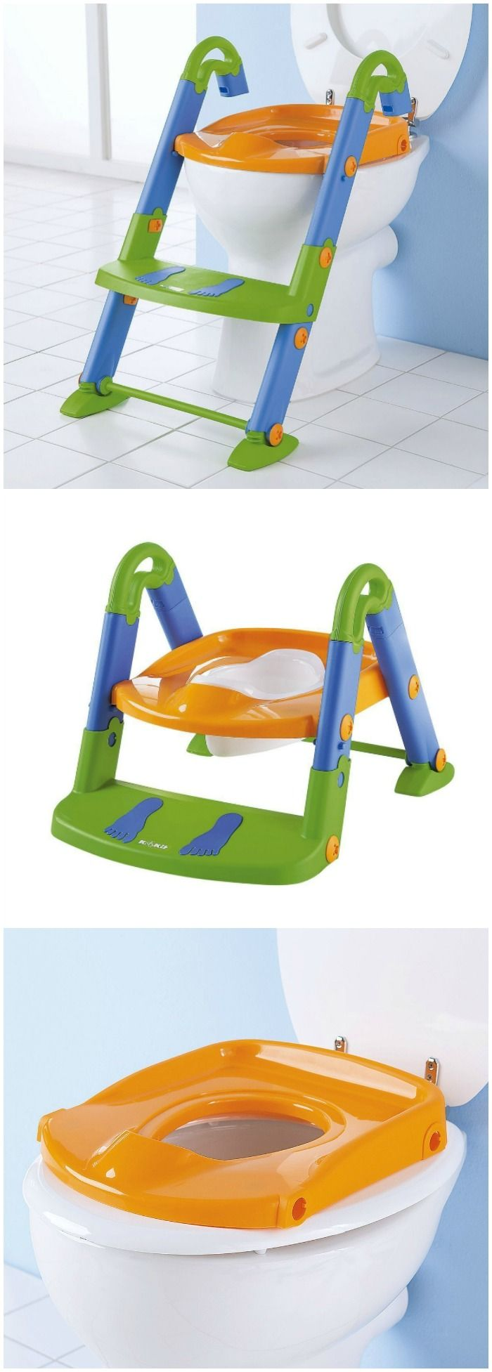 The KidsKit potty training seat features three products in one. It is the portable potty seat that will adjust to every stage of your child's potty seat training. #affiliate