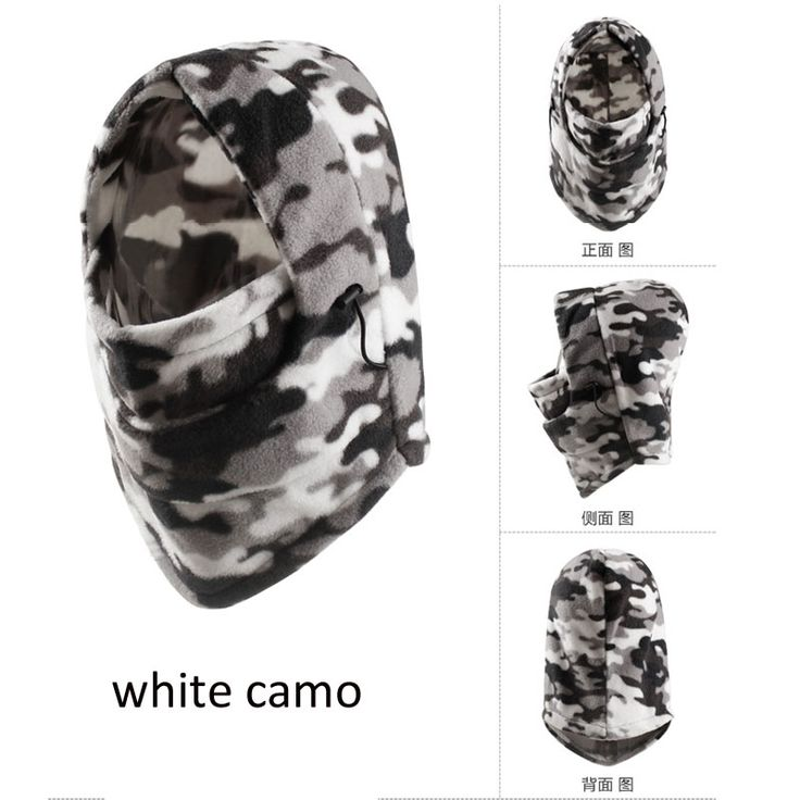 Winter Outdoor Motorcycle Ski Fleece Plush Mask Neck Face Cover Caps Snowfield Hiking Travel Tactical Winter CS Hunting Hat Cap