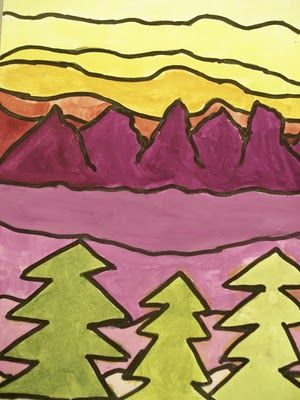 Ted Harrison Style Landscapes