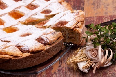 Sold! Stock photo available for sale at 123rf: International Cuisine - Desserts - Neapolitan Pastiera . Pastiera is a wheat and ricotta pie that is also known as Pizza Gran.