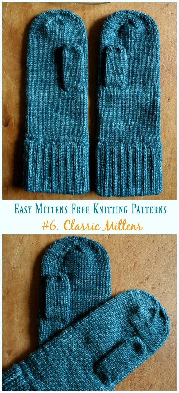 Quick & Easy Mittens Free Knitting Patterns   Knitting   Knitting