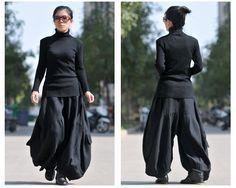 Le donne autunno e l'inverno di cotone lino ispessito pantaloni - Buykud- 2