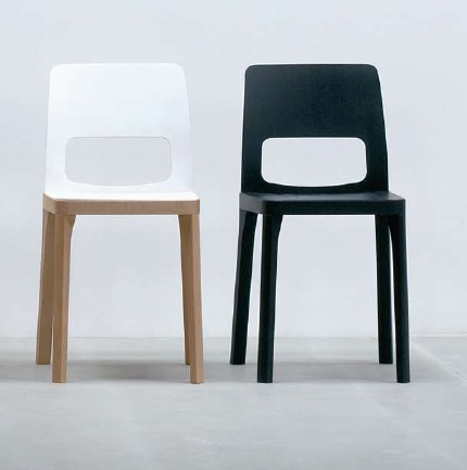 Contemporary black and white dining chairs