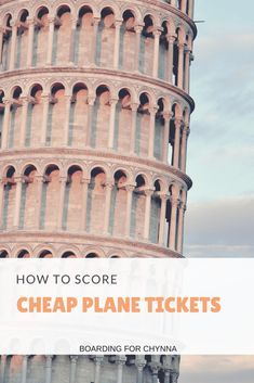 How to Score Cheap Plane Tickets