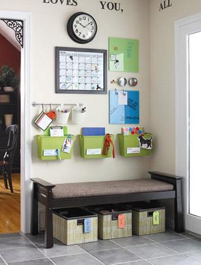 School is in full swing and for many that means life gets even busier. Here are some great tips from our very own Jennifer Dozer. What helps you get organized? (Image from I'm an Organizing Junkie blog: http://orgjunkie.com/2008/02/create-a-command-center-and-get-your-paper-piles-off-the-counter.html)