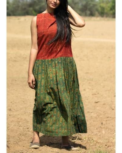 Red And Green Plated Maxi http://www.thesecretlabel.com/designer/alter-ego