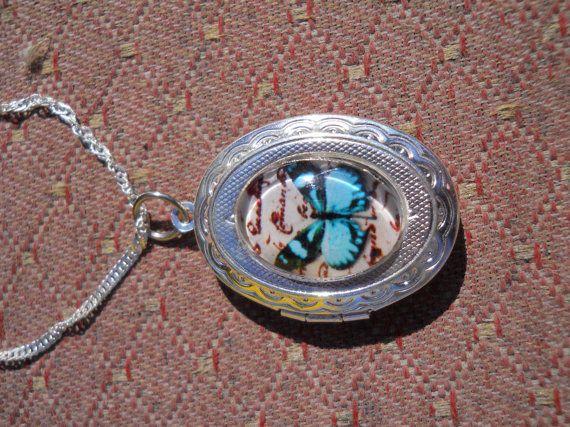 Beautiful Keepsake Silver Plated Locket With by CelestialStudio13, $22.00
