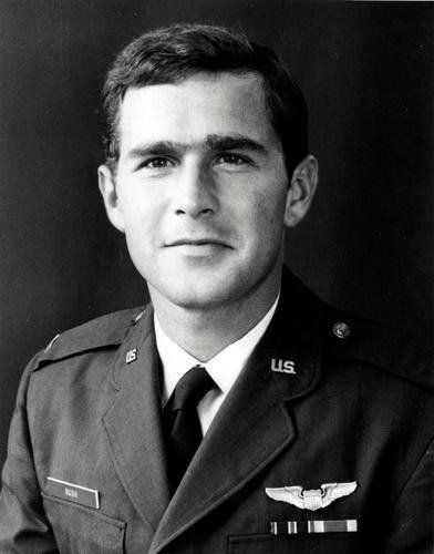 Young George W. Bush with suspected unibrow - not clear from this picture.