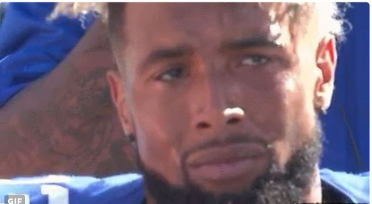 Odell Beckham Jr. Appeared To Be Crying After Having A Sideline Meltdown