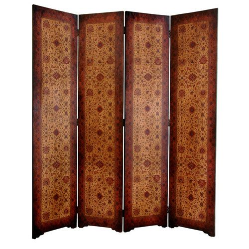 Six Ft. Tall Olde - Worlde Victorian Room Divider, Width - 63 Inches
