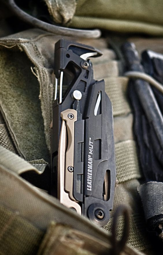 Leatherman - MUT EDC Multi-Tool, Black with Molle Brown Sheath - Everyday Carry Gear