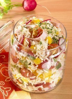 """Express-Reis-Salat (perfekt: """"To go"""") und 87.000 weitere Rezepte entdecken auf DasKochrezept.de"""