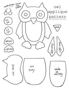 owl applique pattern
