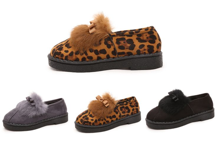 Womens Cute Fuzzy Boot Casual Shoes