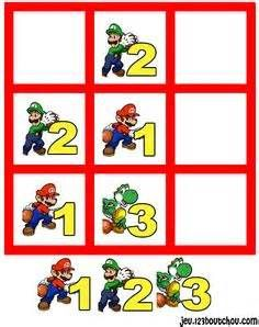 jeu de sudoku 'Grille sudoku Facile mario n° 1' pour enfant a ...
