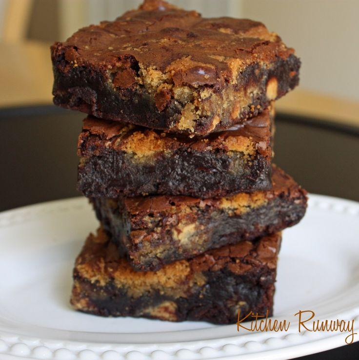 peanut butter brownies stack | Desserts | Pinterest