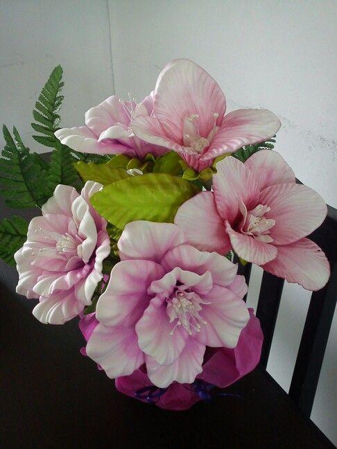 Flores em eva decoração bonita e barata