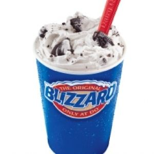 Dairy Queen Blizzard:    1 Health candy bar  1/4 c Milk  2 1/2 c Vanilla ice cream  1 teas. Fudge topping    Freeze the Heath bar. Break the candy into tiny pieces with a knife handle  before removing form wrapper. Combine all of the ingredients in the  blender and blend for 30 seconds on med. speed. Stop the blender to stir  the mixture with a spoon; repeat until well mixed. Pour into a 16-oz.