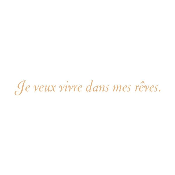 french quote ❤ i want to live in my dreams.... The California Life>>>