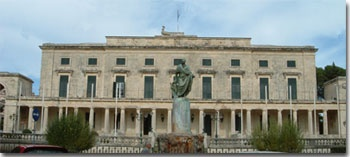 This building was built between 1814 and 1824, during the British presence here and is a monument to Georgian architecture. It has two wings dedicated to the Archangel Michael and St. George and now houses the excellent Museum of Asian Art.  #Corfu #Greece