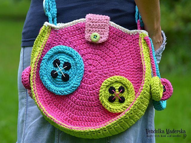 Вязание крючком Кнопки сумка крючком узор DIY по VendulkaM на Etsy