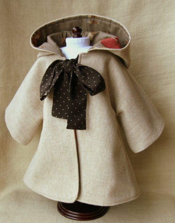 Sewing Pattern and Tutorial for Hooded Coat for by NobbyOrganics