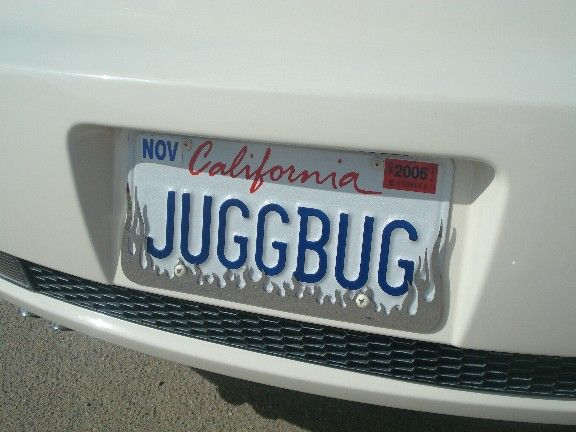 vanity plate for vw bug | Special License Plate Frame? Vanity Plate?
