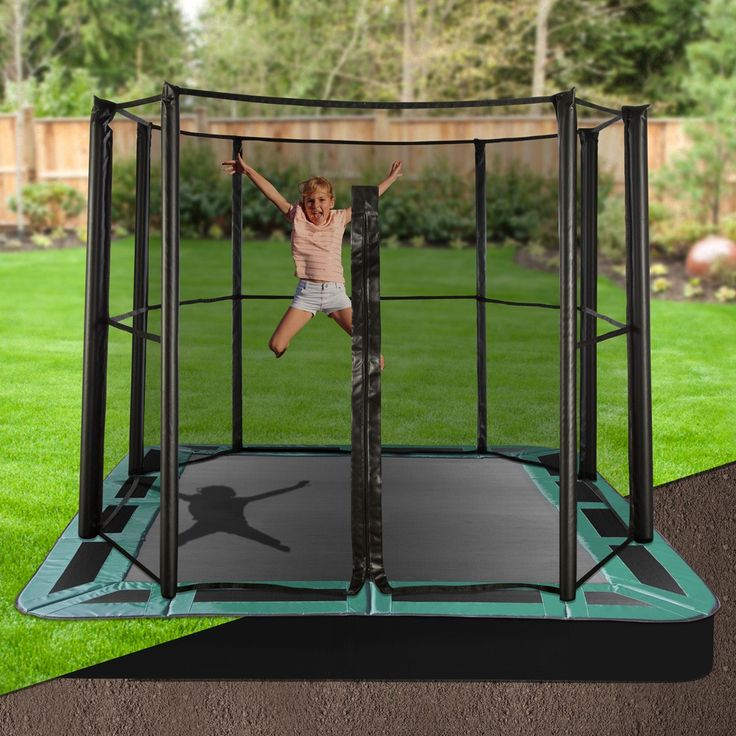 Keep your backyard looking stylish whilst letting the kids have fun on an Oz Trampolines inground trampoline. Available with half or full enclosures they are the perfect, safe backyard accessory. #oztrampolines #trampolines #inground #backyard #play #outdoor #safety #safeplay #fitkids