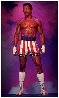 "Carl Weathers as Apollo Creed in ""Rocky""."
