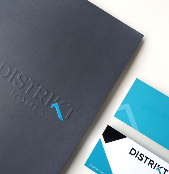 Distrikt Homes logo design, presentation folder, stationery, business card design. #developer #homebuilder #distinktlydifferent #newhomeconstruction #showhomes #residential #realestate #LowerMainland #company Branding and web design by #Studiothink / Vancouver, BC #SurreyBC #branding #design #stationery #brochure #website #webdesign #creative #agency