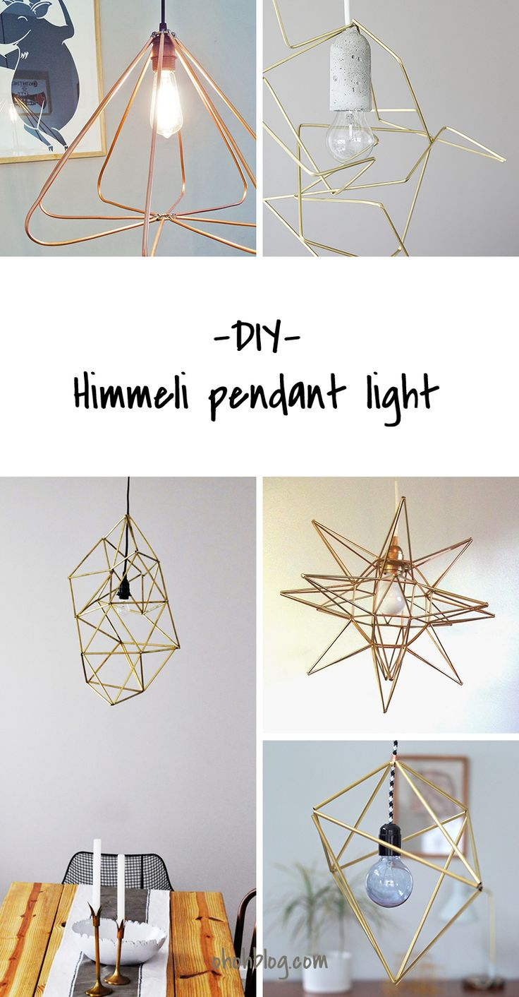 DIY to Try # himmeli pendant light | Ohoh Blog - diy and crafts