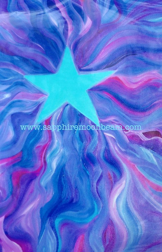 Magick Within, Poster, Abstract Painting, Energy, Reiki, healing on Etsy, $24.00