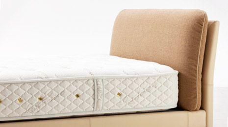 ムーンライズ|日本ベッド|灰|¥259,200|ファブリッククッション+本革フレーム